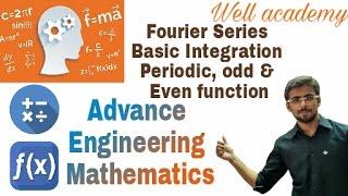 Fourier Series #1   Basic Integration   Periodic, Odd & Even Function   AEM   GTU (Eng-Hindi)