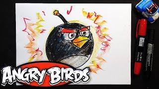 Как рисовать Злых Птичек | Урок рисования для детей Angry birds(Огромная Энгри Берд Бомб. Рисуем птичек из Angry birds. Выходит мультик для детей Angry birds и я решил нарисовать..., 2016-06-03T10:29:39.000Z)