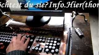 Copper field Steampunk PC Tastatur