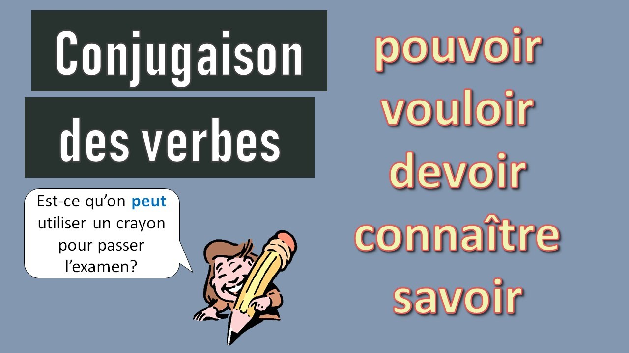 Verbes Pouvoir Vouloir Devoir Connaitre Savoir Conjugaison Au Present De L Indicatif Youtube
