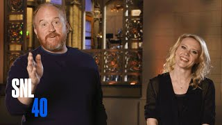 Kate Informs SNL Host Louis C.K. That It's His Last Show