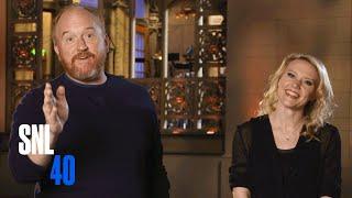 Kate Informs SNL Host Louis C.K. That It's His Last Show