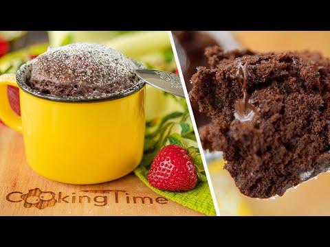 КЕКС В КРУЖКЕ ЗА 2 минуты без духовки! | простой и вкусный шоколадный десерт без яиц