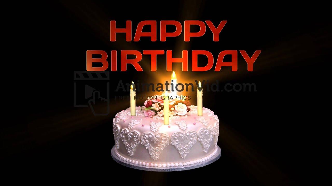 Happy Birthday Cake Animation Video Youtube