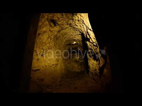 Abandon Gold Silver Mine At Night 3 - Stock Footage | VideoHive 10974435