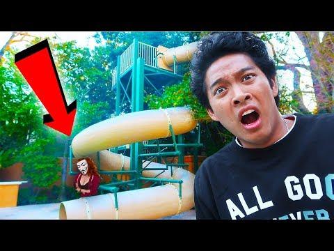EVIL HACKER GIRL TRAPPED ME IN GIANT WATERSLIDE!!