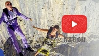 Repeat youtube video Skydiving in Stilettos! | YouTube Nation | Wednesday