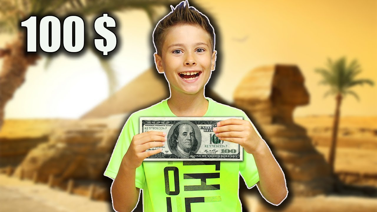 День на 100 ДОЛЛАРОВ в ЕГИПТЕ 24 часа челлендж !!! Что купит школьник на все деньги? fast sergey