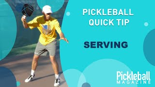Pickleball Quick Tip: Serving