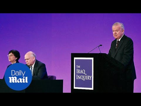 Legal basis for Iraq war 'far from satisfactory' says Chilcot - Daily Mail