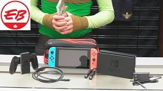 Nintendo Switch Unboxing First Reactions! Eb Unboxes Youtube
