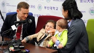 Viral 'BBC girl' charms fans during press conference