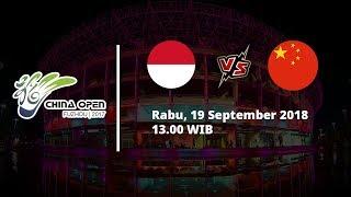 Jadwal China Open 2018, Indonesia Vs China, Pukul 13.00 WIB