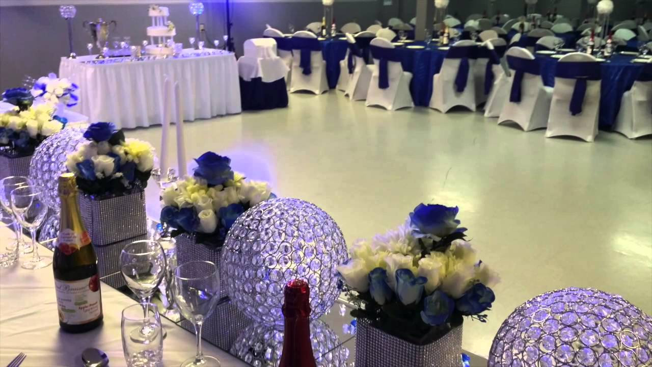E.Halisi Decor royal blue wedding decoration. - YouTube