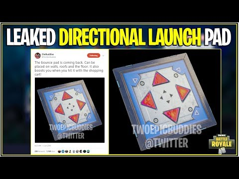 *NEW* Fortnite: LEAKED DIRECTIONAL LAUNCH PAD RETURNING! | (Boost Shopping Carts!)