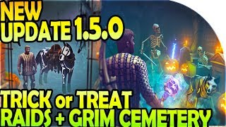NEW UPDATE 1.5 - NEW TRICK or TREAT RAIDING + GRIM CEMETERY + HALLOWEEN - Grim Soul Survival