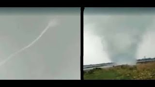 Live Cloud Take Water From Sea In Allahabad 2018