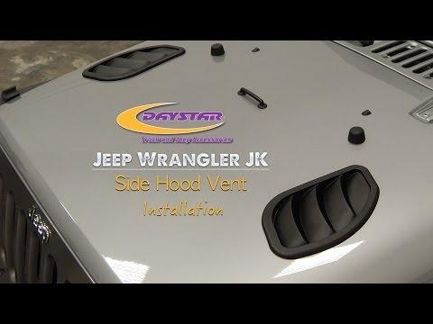 Daystar Products 2007-2015 Jeep Wrangler JK Hood Vent Installation KJ71048BK / KJ71049BK
