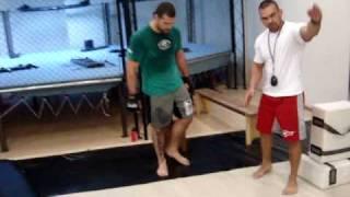 preparador fisico Andre Neumann  atleta Mauricio Shogun  Treino lyoto