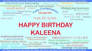 Kaleena   Languages Idiomas - Happy Birthday