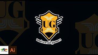Simple Badge Logo Design | Adobe Illustrator Tutorial | Universal games