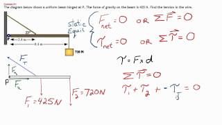 Static Equilibrium Sample Problem 2