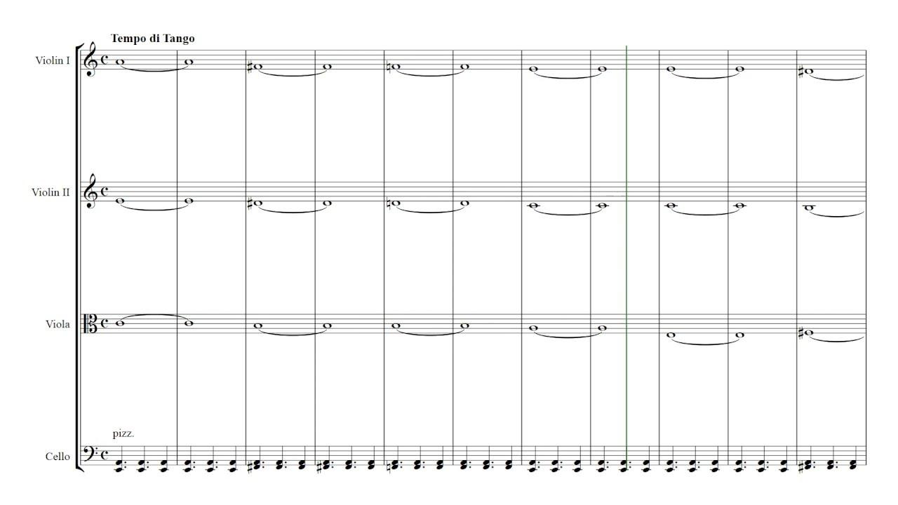 Piazzolla Libertango   String Quartet Sheet Music