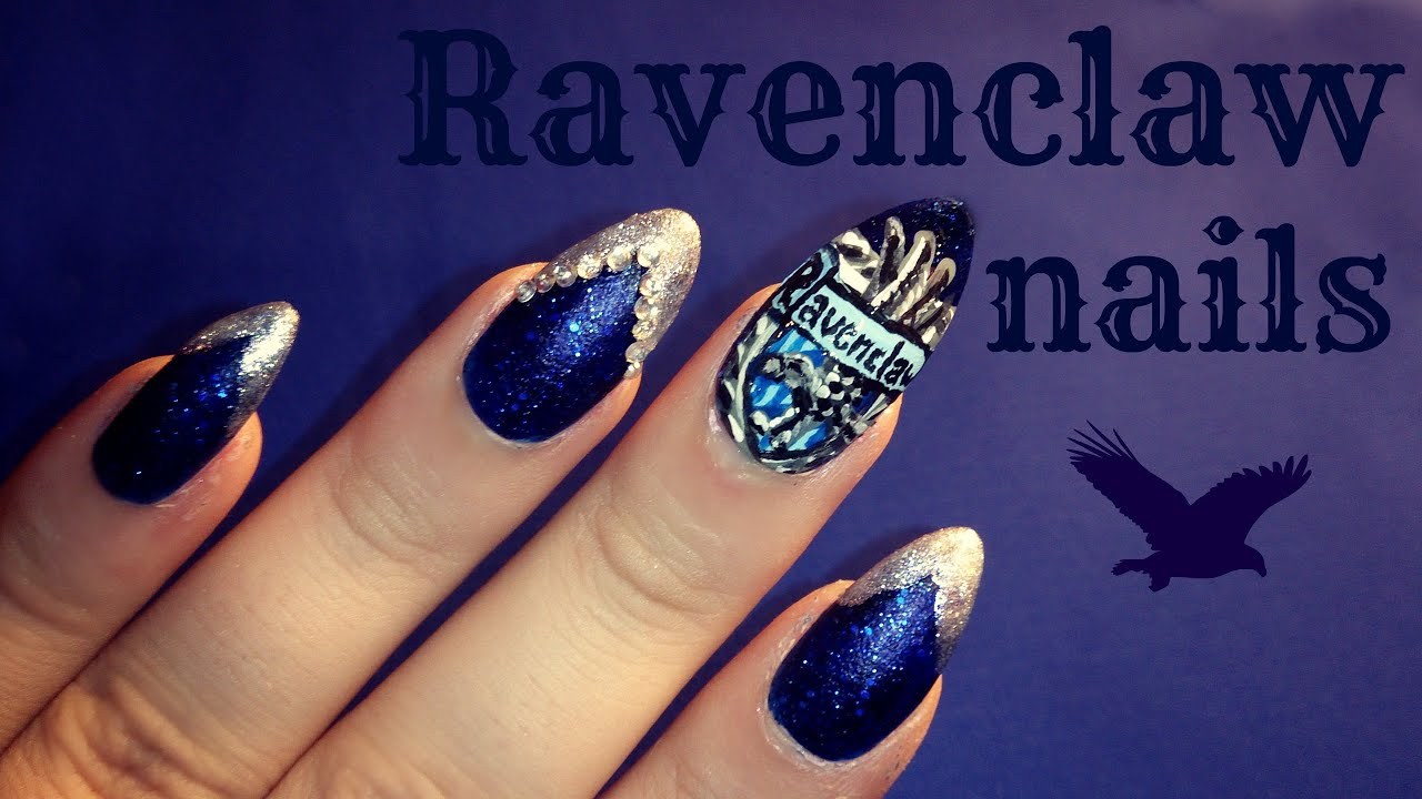 Harry Potter Ravenclaw Nail Art Youtube