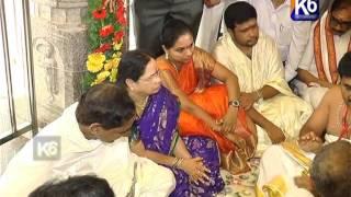 CM KCR Vemulawada lo pooja with Family~1