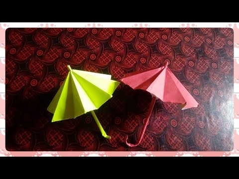 How to make Paper Umbrella that opens and closes / Diy Umbrella