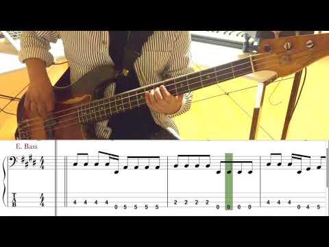 灰色と青 ( + 菅田将暉 )/米津玄師(Bass cover)5線譜&Tab譜付き