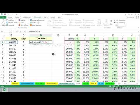 Using VLOOKUP with large tables | Excel | lynda.com
