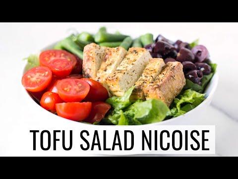 TOFU SALAD NICOISE | healthy lunch idea | #SALADWEEK