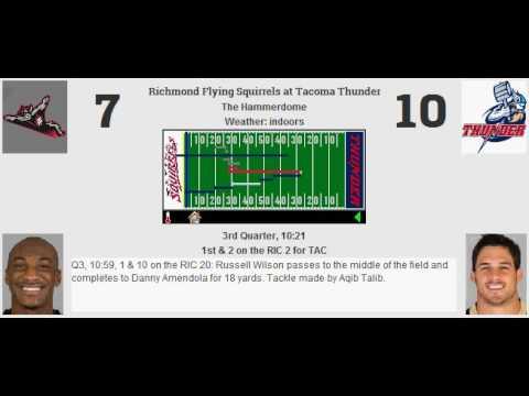 Week 3: Richmond Flying Squirrels (2-0) @ Tacoma Thunder (2-0)