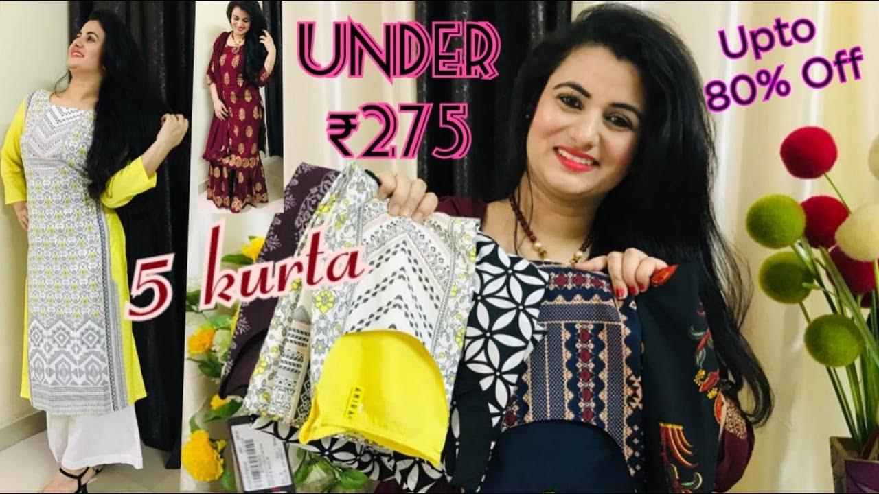 Amazon Kurti Haul | Affordable Kurti Haul | Kurti Under ₹ 275 Only | Daily Wear Kurti Haul