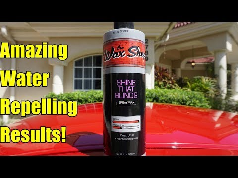 The Wax Shop The Shine That Blinds Spray Wax Review