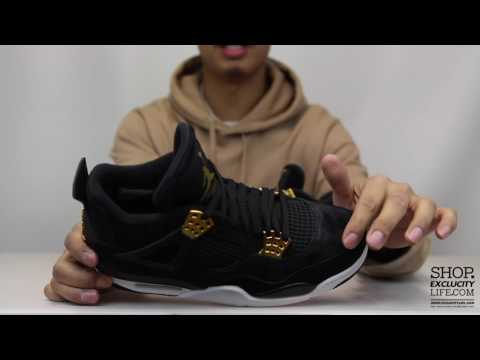 "Air Jordan 4 Retro ""Royalty"" Unboxing Video at Exclucity"