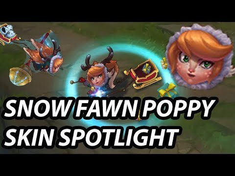 SNOW FAWN POPPY SKIN SPOTLIGHT - BG LEAGUE OF LEGENDS