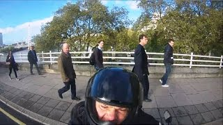 Road Rage Biker Vs Cyclist - You Cut Me Off, You #ucking #anker!!