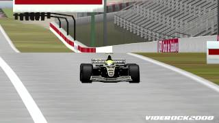 [F1C] John Player Special Team Lotus-Renault @ Barcelona with Ayrton Senna (Mod F1 Classic) [HD]