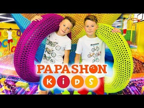 МОЙ АКТИВНЫЙ ДЕНЬ батуты, лабиринт, горки, челлендж и крутые трюки в Papashon kids в River mall  0+