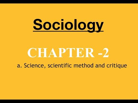 Sociology for UPSC : Socio and Science - Chapter 2 - Paper 1 - Lecture 54