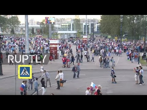 LIVE: Fans leave Zenit Arena after Confederations Cup opening match