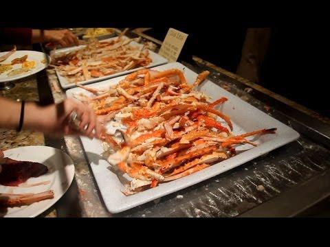 [HD] Full STEADY Tour of Bellagio Buffet - Las Vegas Buffet Tour - Dinner
