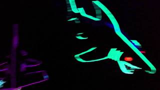 Crazy mobile LED Land Sharks outside of Dj Shadow (Coachella 2012)