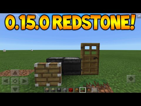 0.15.0 NEW REDSTONE FEATURES!! - Minecraft Pocket Edition Sticky Pistons + Observer Tutorial