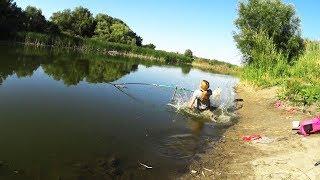Рыбалка на поплавок. ВОТ ЭТО ПОКЛЁВКА ,УПАЛА В ВОДУ ПОДСЕКАЯ ЭТУ РЫБУ!