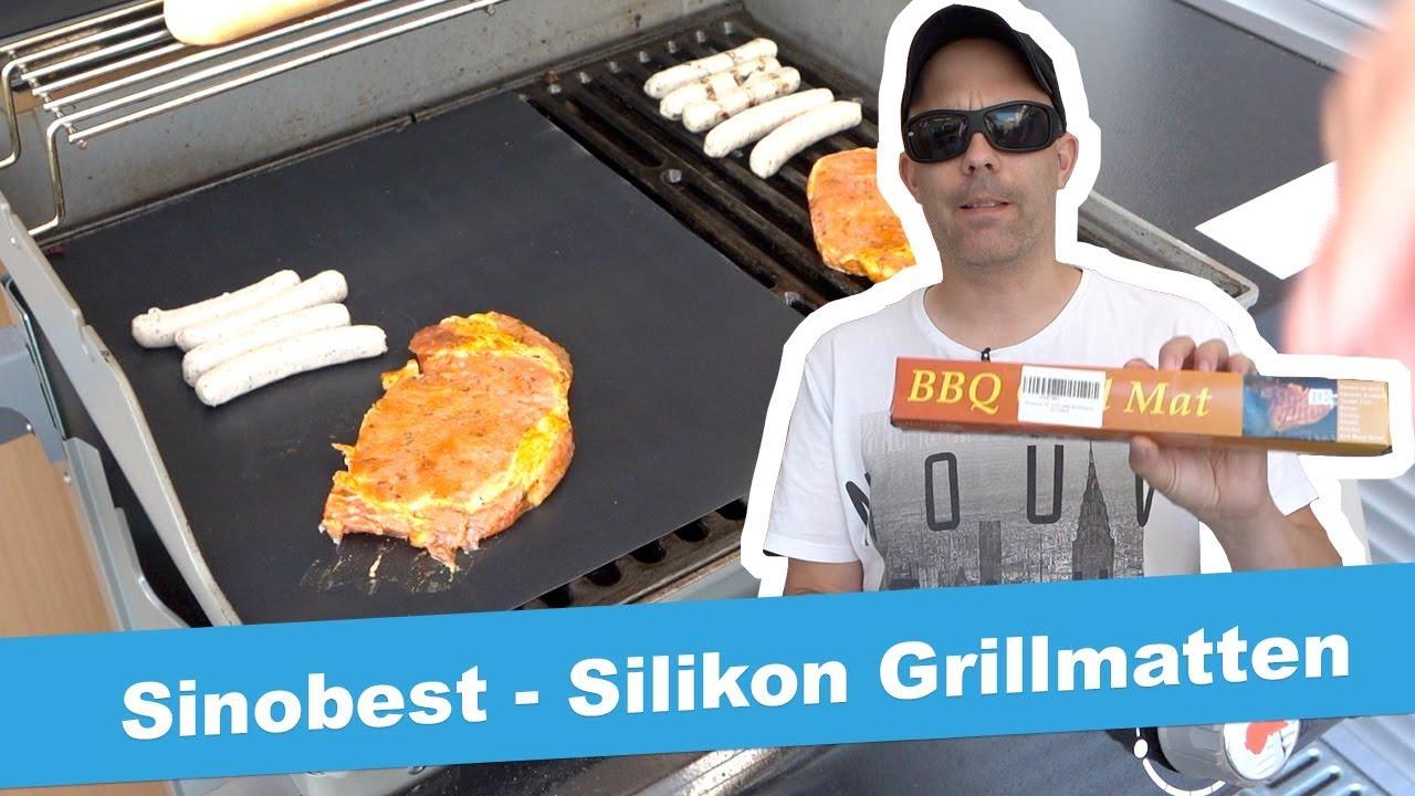 Grillmatte Für Gasgrill : Sinobest silikon grillmatten jetlonestarr youtube