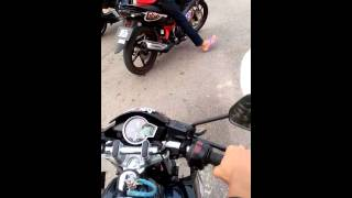 Yamaha fz150i (with pillion+standard+nobi exhaust) vs modified yamaha 135lc