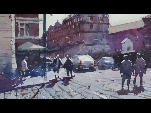 How to paint with only 3 colours - A watercolour demonstration by Tim Wilmot #18